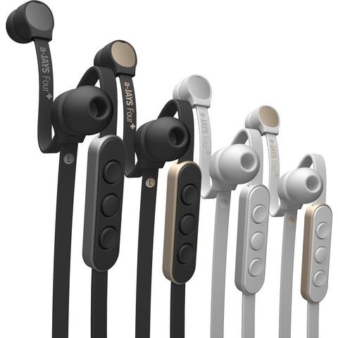 JAYS a-JAYS Four Headphones | Black/Silver iOS T00150 / Android T00154