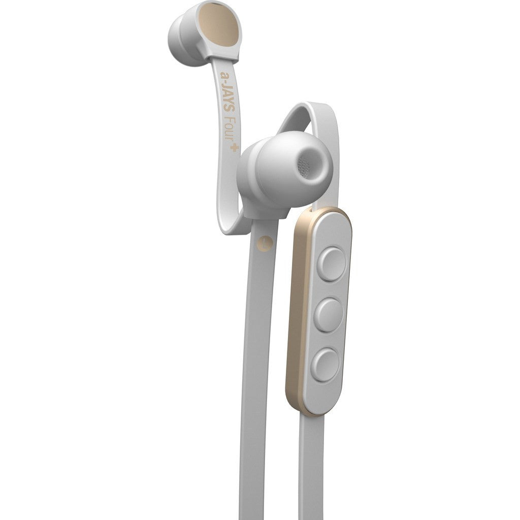 JAYS a-JAYS Four Headphones | White/Gold iOS T00153 / Android T00157
