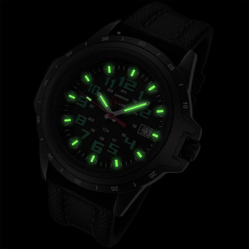 Armourlite ColorBurst Shatterproof Men's Watch Black-Green | Leather AL223