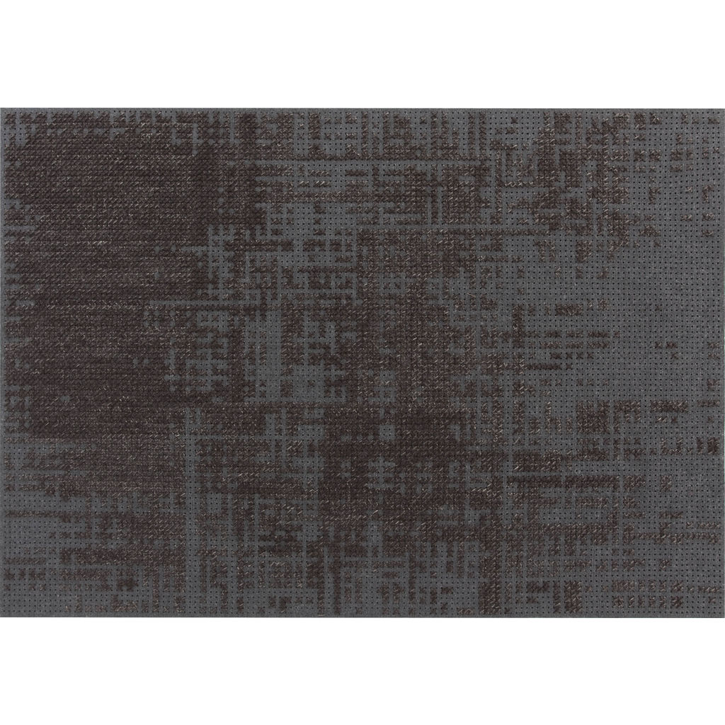 Gan Canevas Abstract Rug | Charcoal/Dark Gray 02CN21302CL91