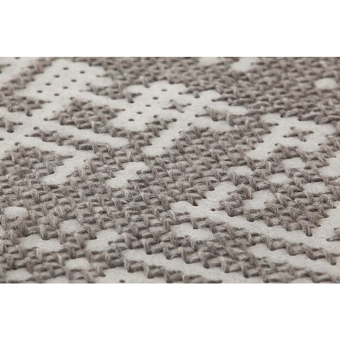 Gan Canevas Abstract Rug | Silver/Light Gray 02CN21302CL90