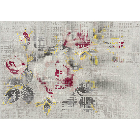 Gan Canevas Flowers Naturales Rug | Light Gray 02CN28502CL92