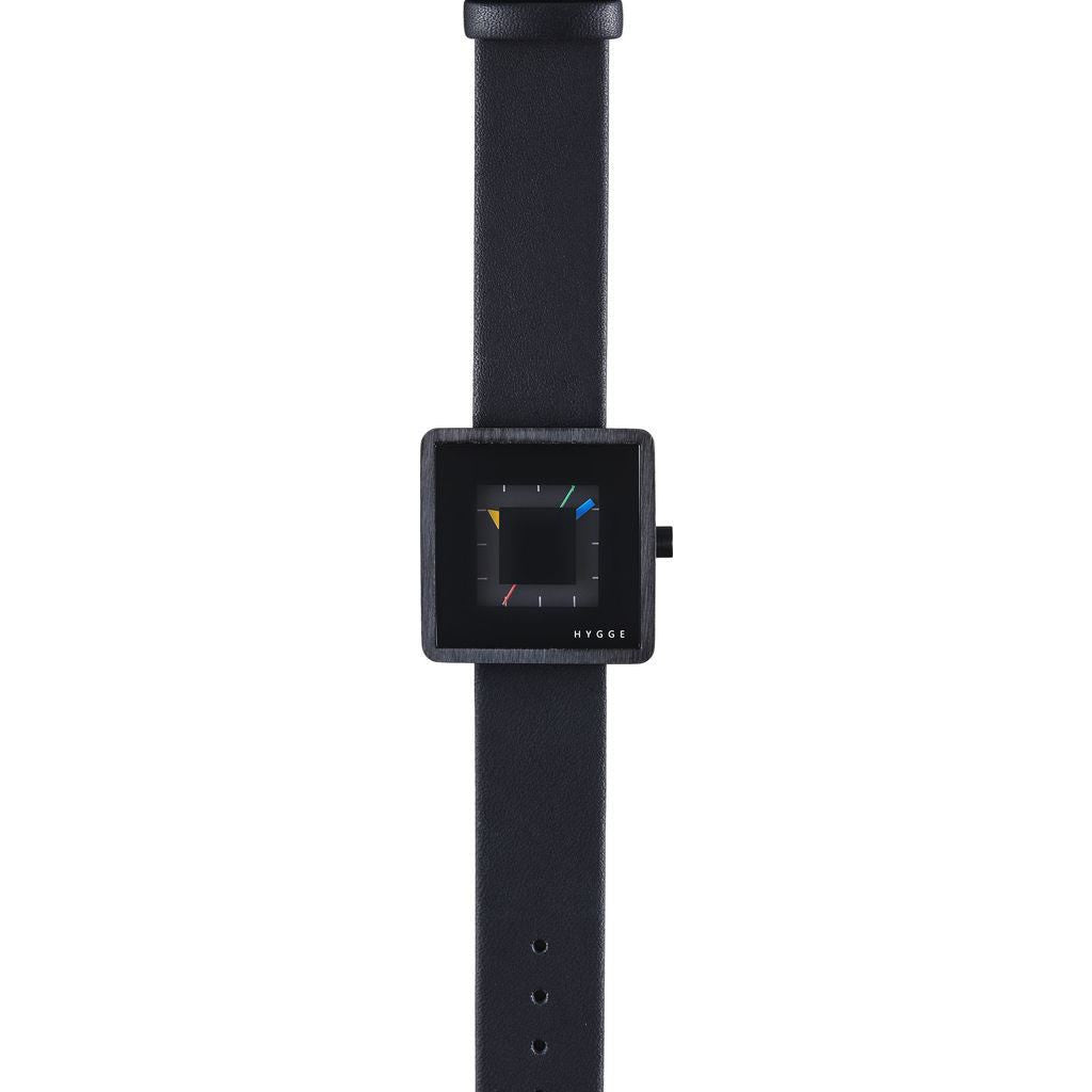 Hygge 2089 All Black Watch | Leather HGE-020081 MSL2089