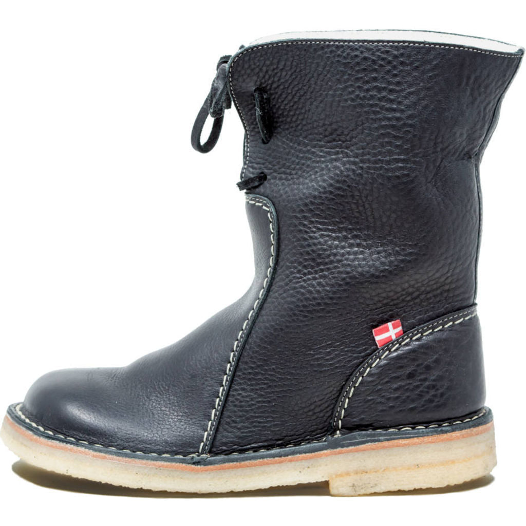 Duckfeet Arhus Wool/Leather Boots in Black