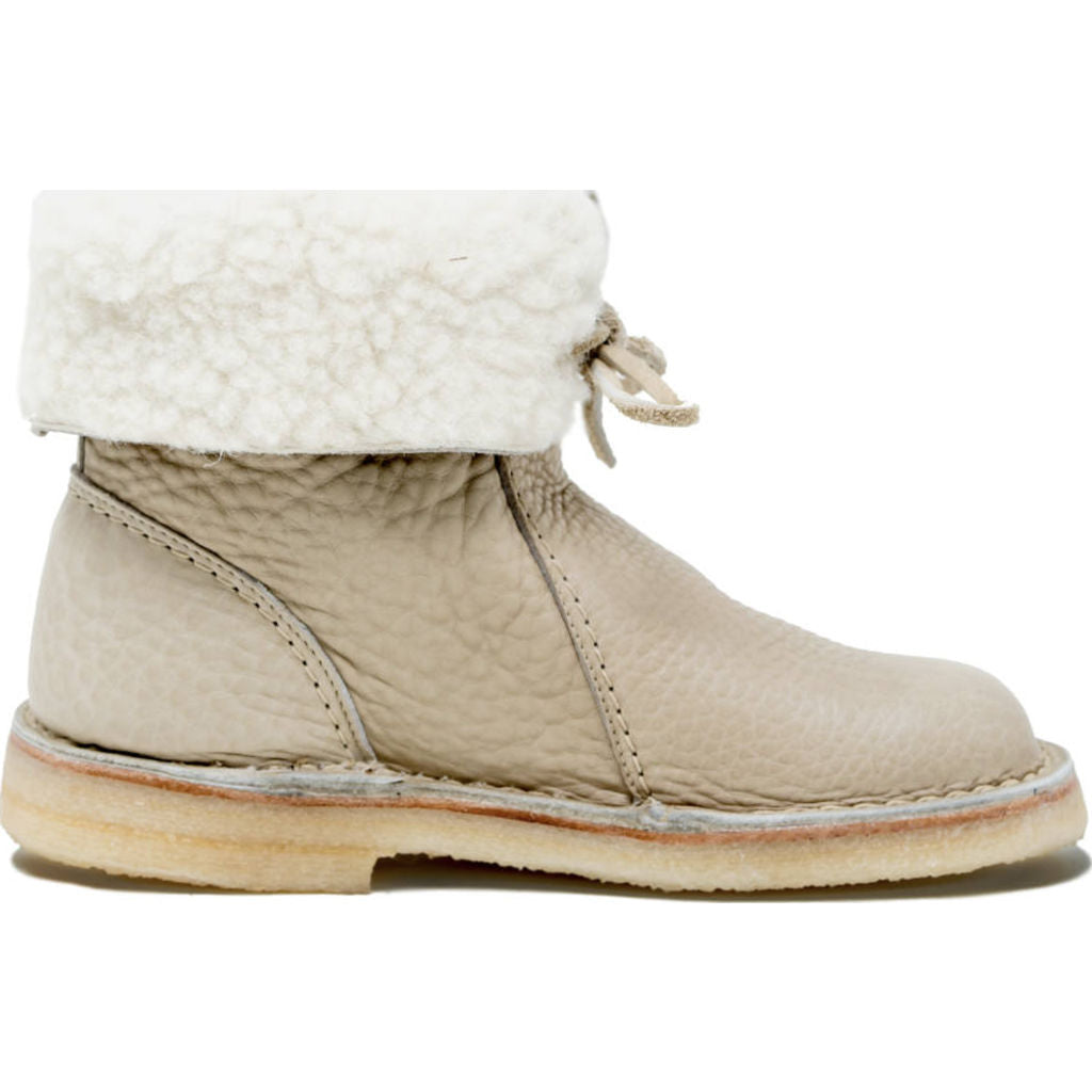 Duckfeet Arhus Wool/Leather Boots in Nude