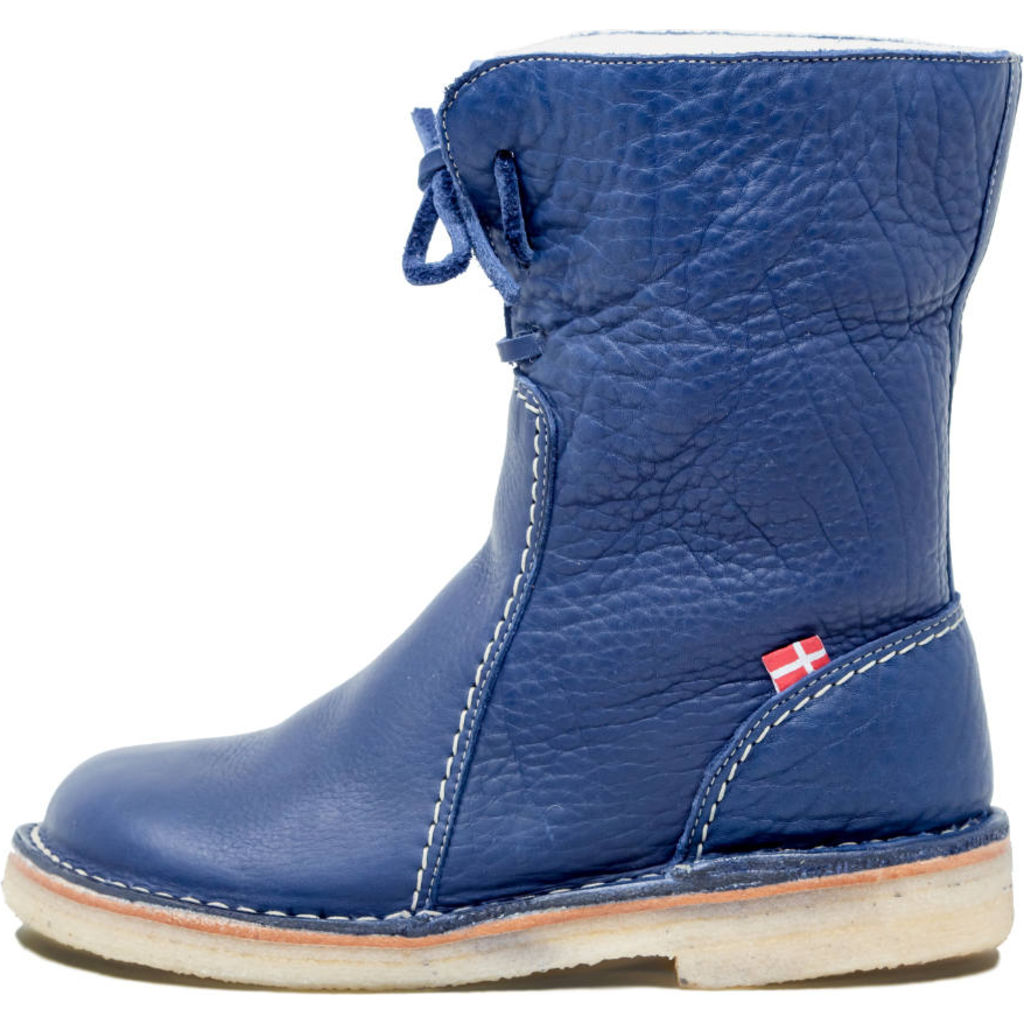 Duckfeet Arhus Wool/Leather Boots in Blue