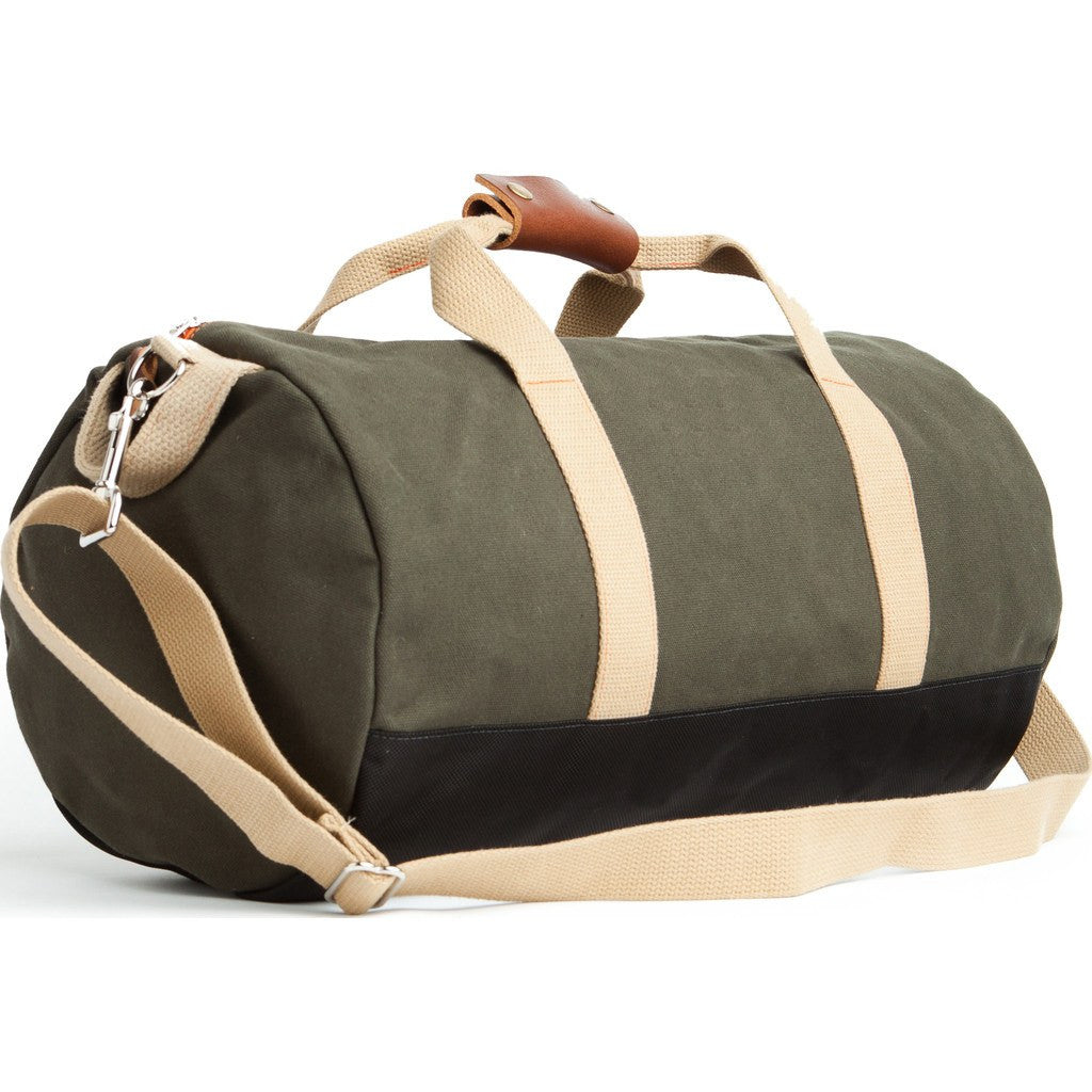 Owen & Fred Work Hard, Play Hard Duffel Bag | Army Green