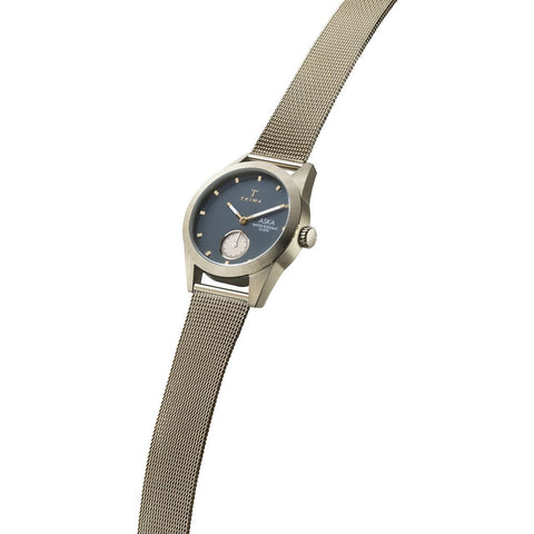Triwa Ash Aska Watch | Champagne Mesh Super Slim AKST103-MS121717