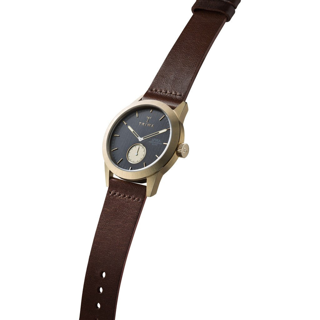 Triwa Ash Spira Watch | Dark Brown Classic SPST101-CL010413
