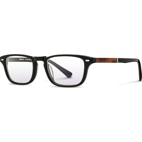 Shwood Rx Astoria Acetate Glasses | Black / Elm Burl WRXAABEL