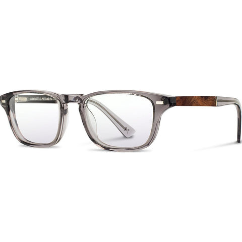 Shwood Rx Astoria Acetate Glasses | Smoke / Elm Burl WRXAASEL