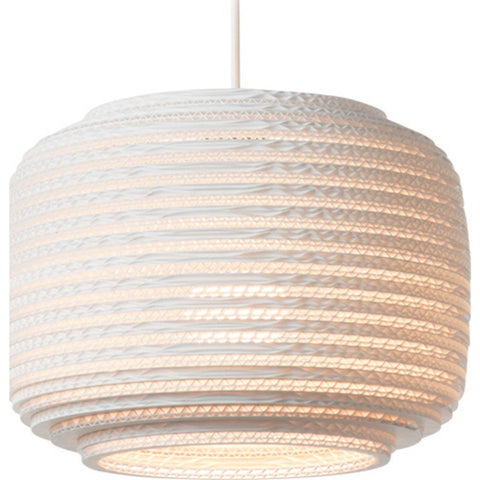 "Graypants Scraplight Ausi 12 Pendant Light | White 8.5"" Diameter GP-1111-UL"