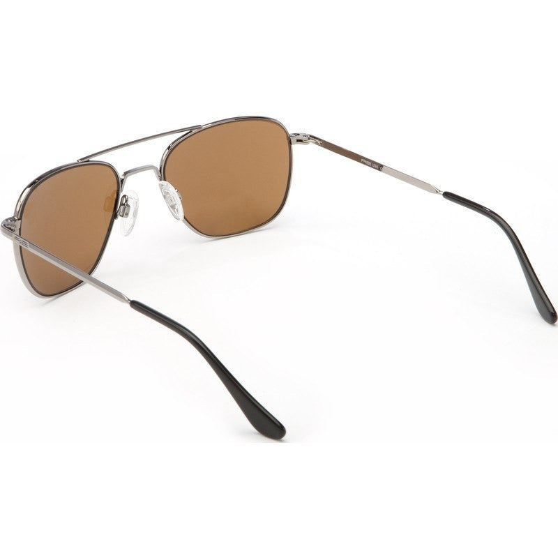 Randolph Engineering Aviator Gunmetal Sunglasses | Tan Polarized Glass Bayonet