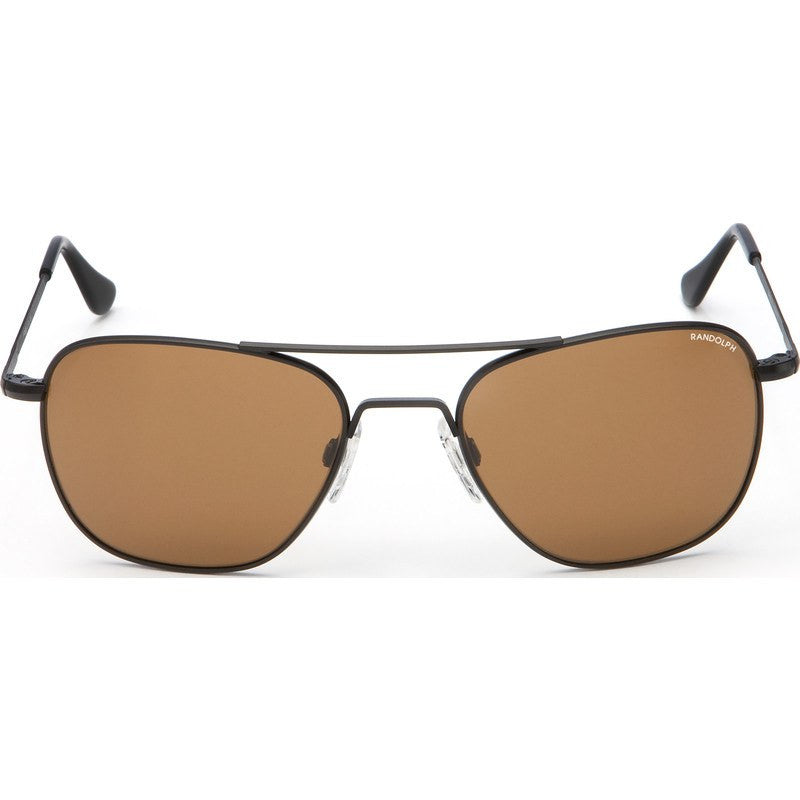 Randolph Engineering Aviator Matte Black Sunglasses | Tan Skull