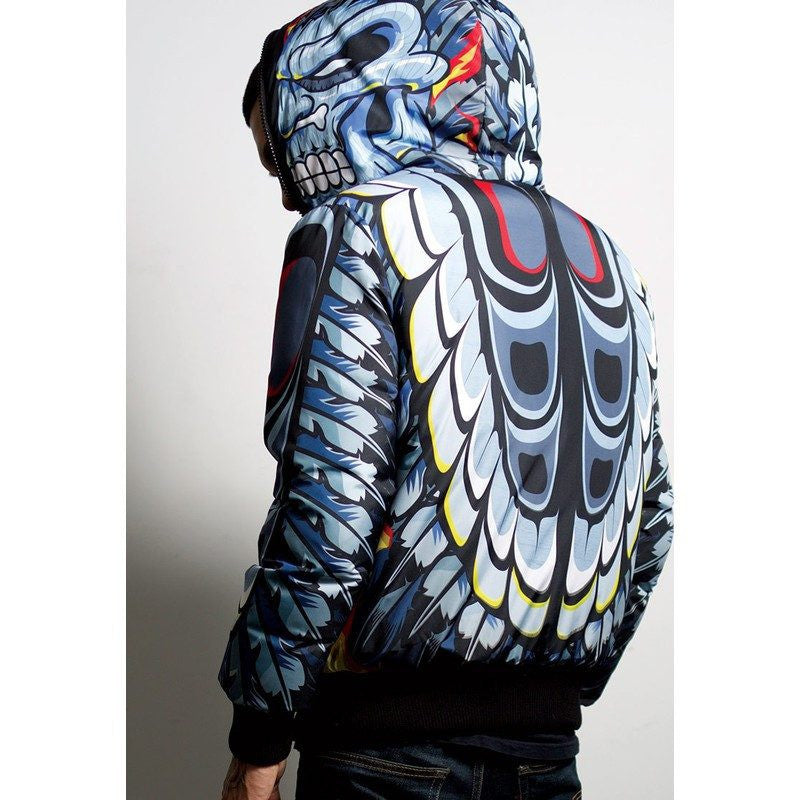 Sprayground Reversible Down Jacket | Head Hunter