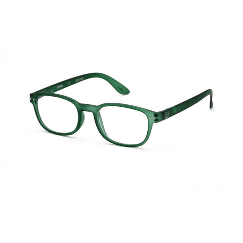Izipizi Reading Glasses B-Frame | Green Crystal