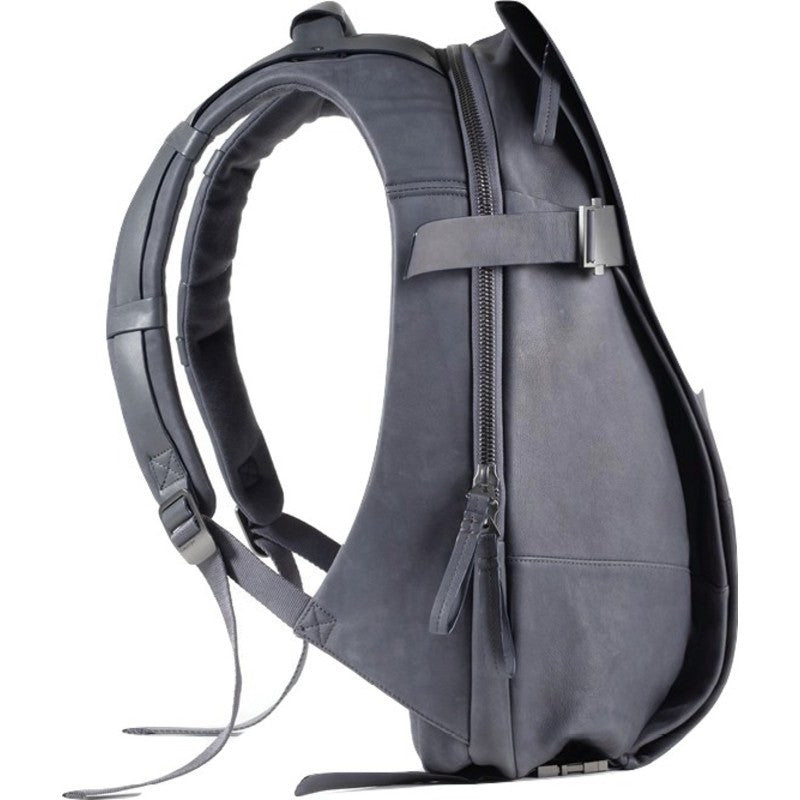 Cote&Ciel Isar Alias Medium Cowhide Leather Backpack | Graphite Grey 28390