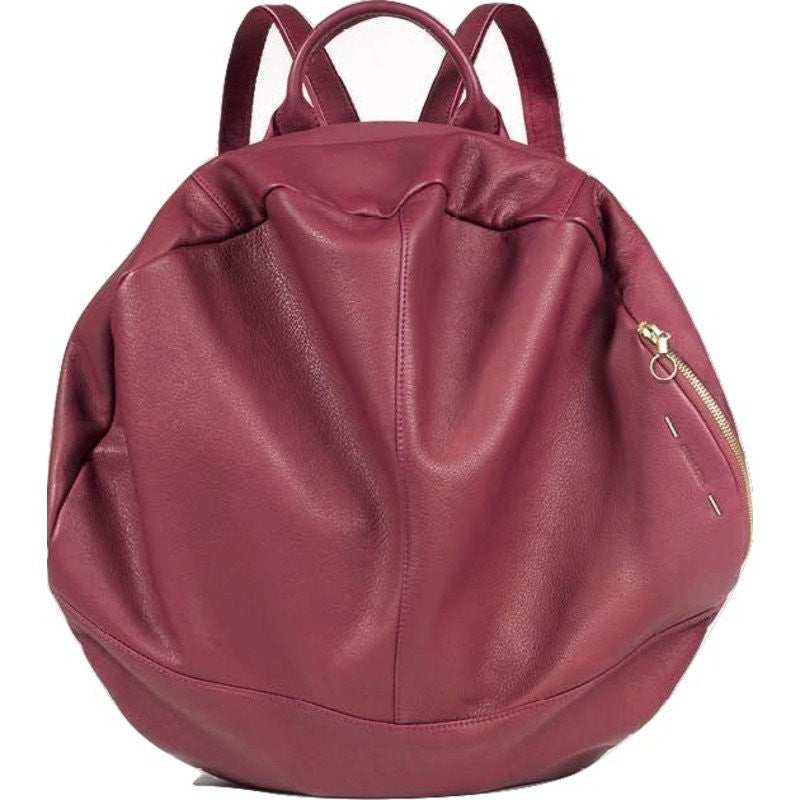 Cote&Ciel Moselle Alias Cowhide Leather Backpack | Garnet Red 28393