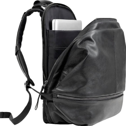 Cote&Ciel Meuse Alias Cowhide Leather Backpack | Agate Black 28403