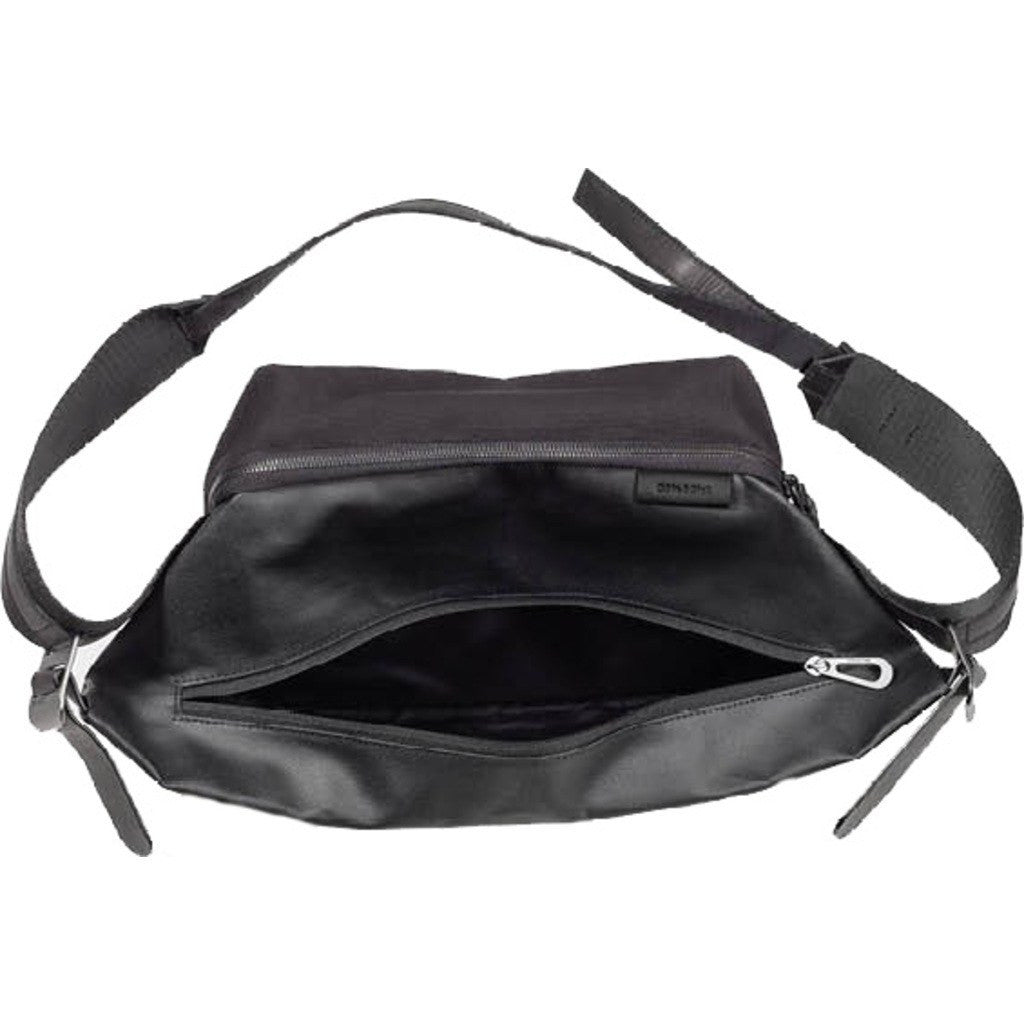 Cote et Ciel Isarau Coated Canvas Sling Bag | Black 28395