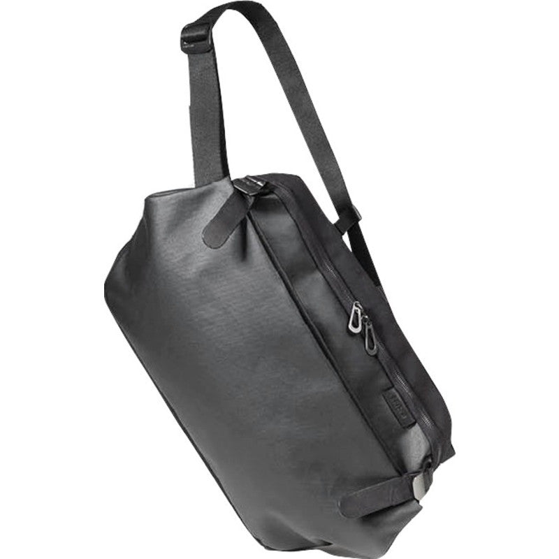 Cote&Ciel Riss Coated Canvas Sling Bag | Black 28394
