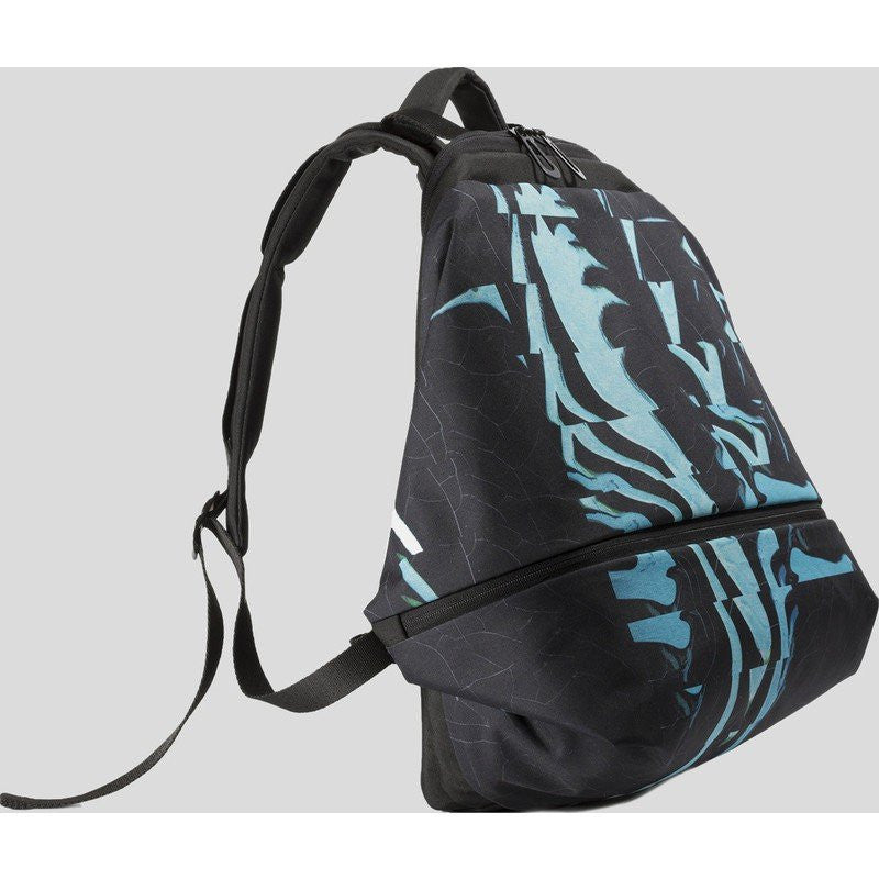 Cote et Ciel Meuse Ripple Eco Yarn Laptop Backpack | Midnight Black / Rich Jade 28384