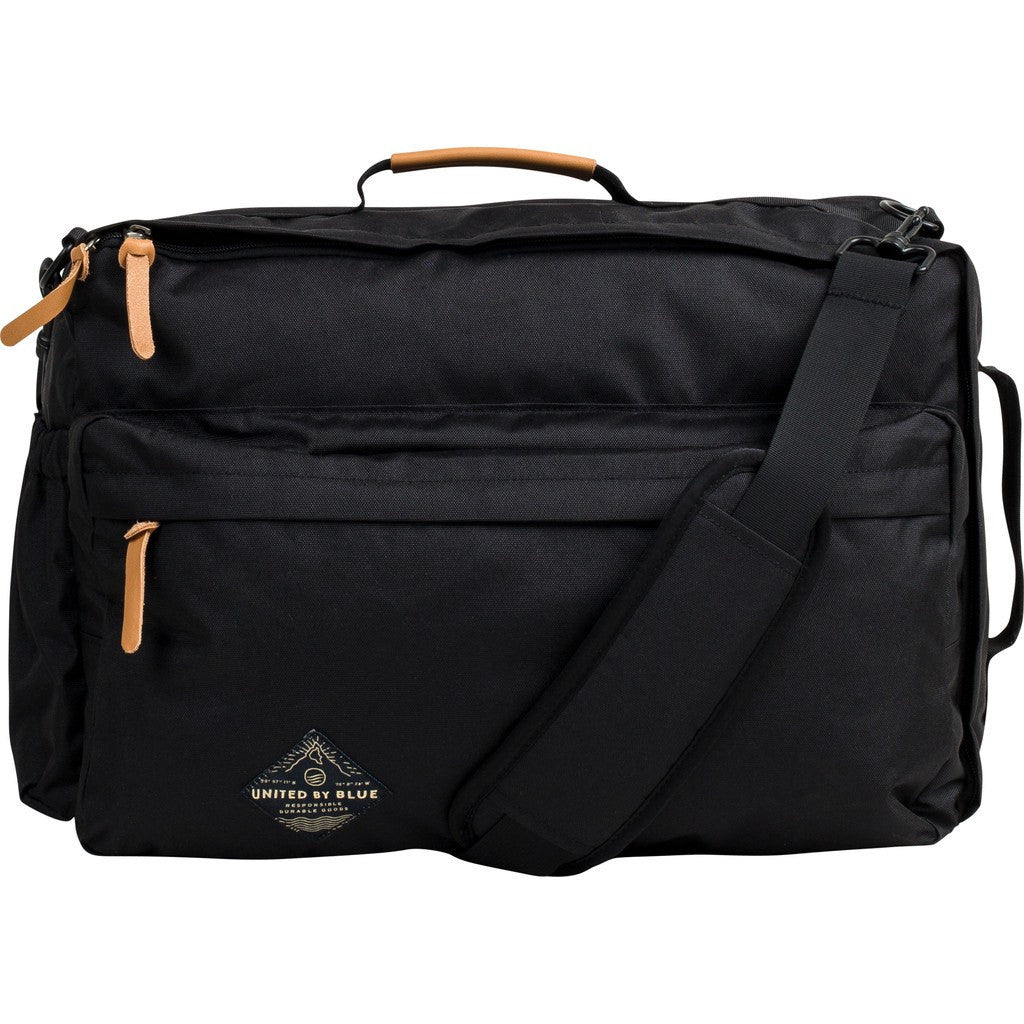 United By Blue Basin Convertible Messenger Pack | Black BASINCO-BK