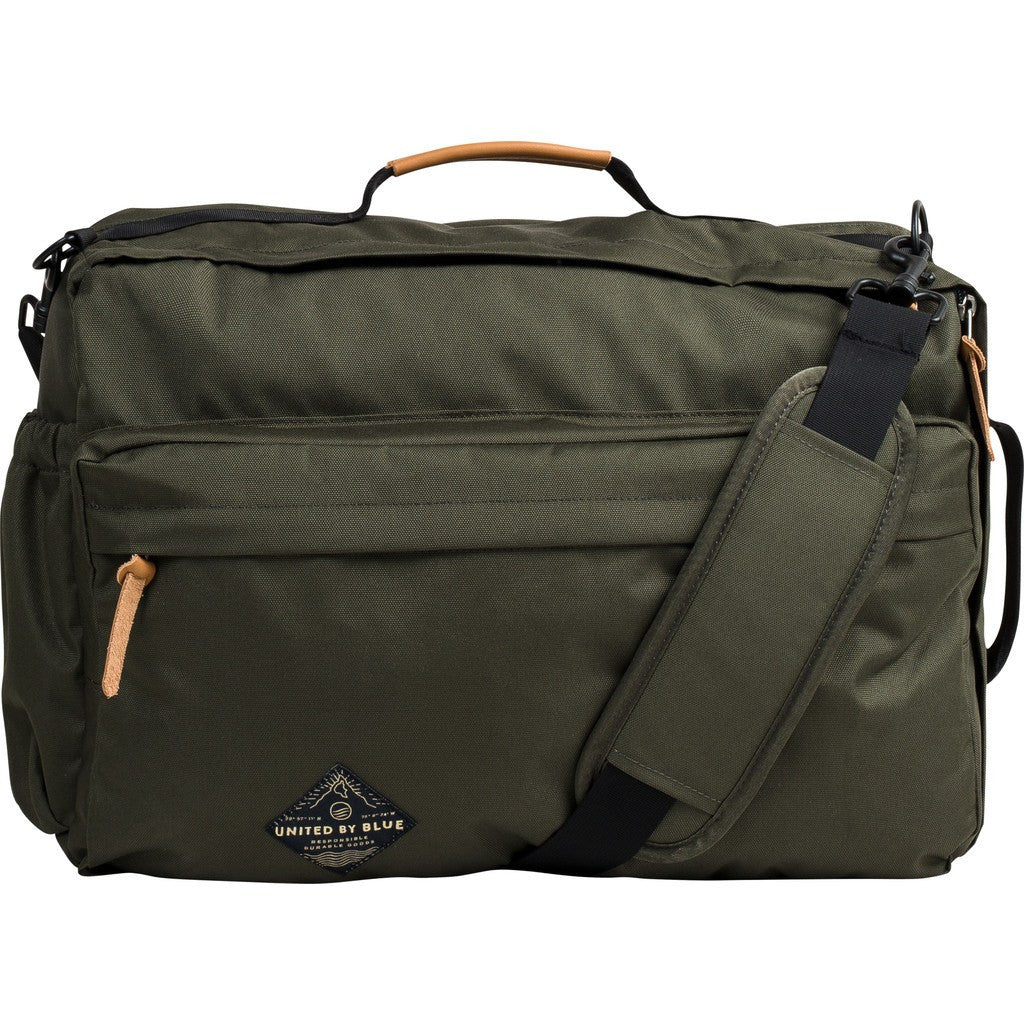 United By Blue Basin Convertible Messenger Pack | Olive BASINCO-OL