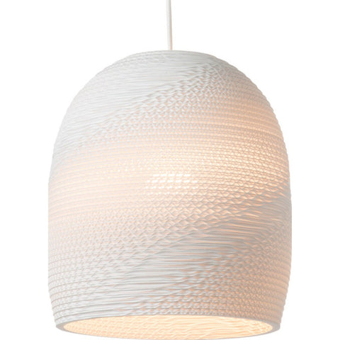 "Graypants Scraplight Bell 10 Pendant Light | White 10.5"" Diameter GP-1121-UL"