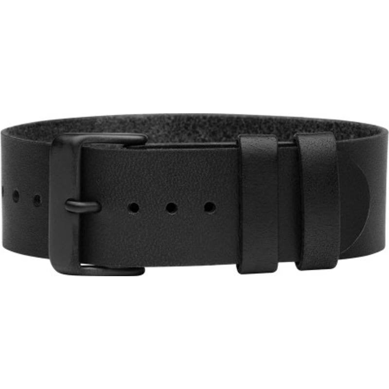 TID Natural Leather Watch Strap | Black