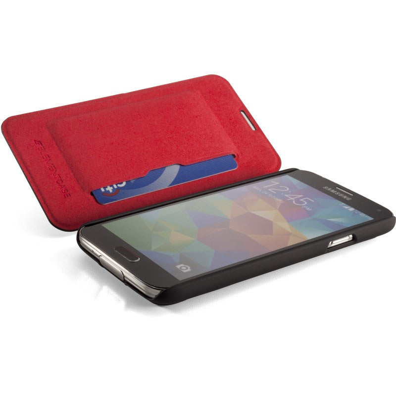 ElementCase Soft-Tec Wallet Samsung Galaxy S5 Case Black/Red