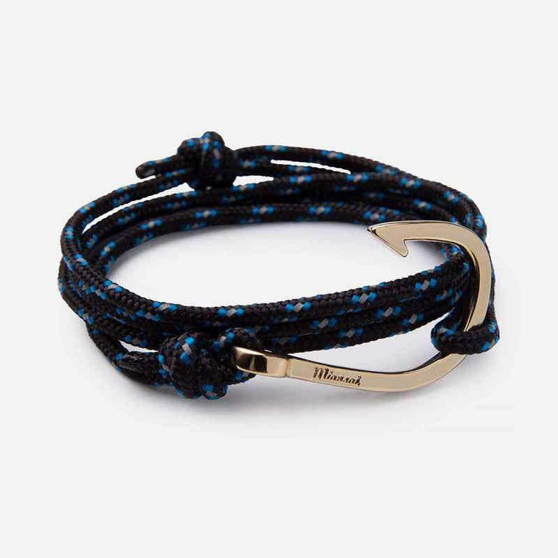 Miansai Brass Hook on Rope Bracelet | Indigo 100-0061-003