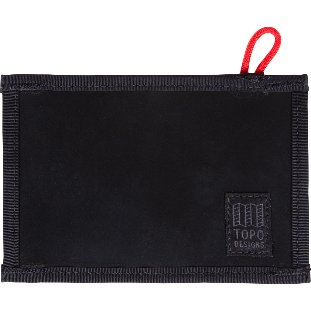Topo Designs Leather Wallet | Black