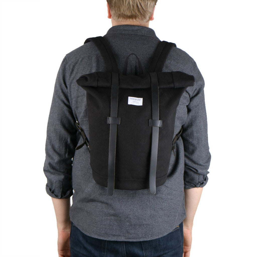 Sandqvist Sonja Rolltop Backpack | Black SQA541