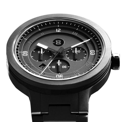 Minus-8 Layer 24 Black/Black Automatic Watch | Steel P024-004-DBW-ML