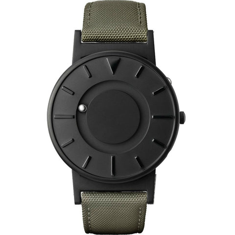 Eone Bradley Watch Black Ltd. | Green Canvas & Leather