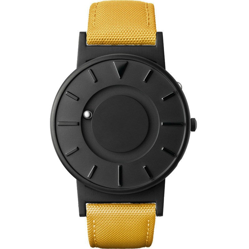 Eone Bradley Watch Black Ltd. | Yellow Canvas & Leather