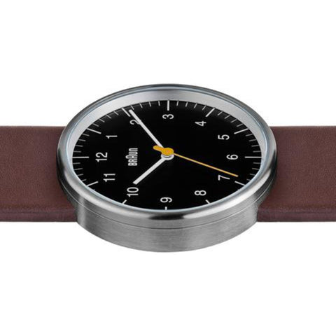 Braun BN21 Black Analog Men's Watch | Brown Leather