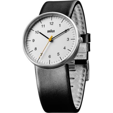 Braun BN0021 White Classic Men's Watch | Black Leather