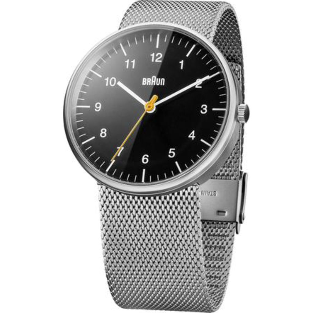 Braun BN21 Black Automatic Men's Watch | Stainless Steel Mesh