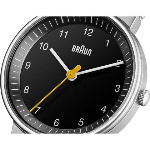 Braun 0031 Black 3 Hand Analog Women's Watch | Steel Mesh