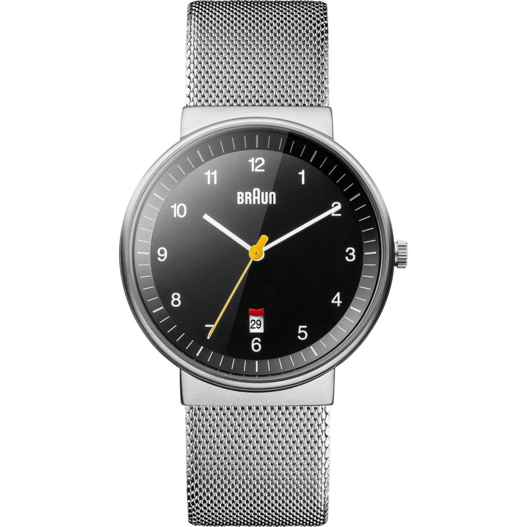 Braun 0032 Black Analog Men's Watch | Steel Mesh