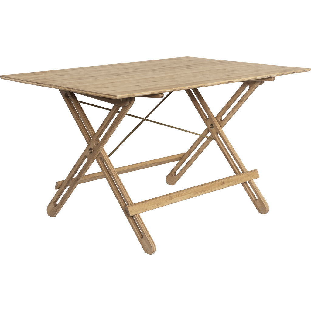 We Do Wood Field Table | Bamboo/Brass