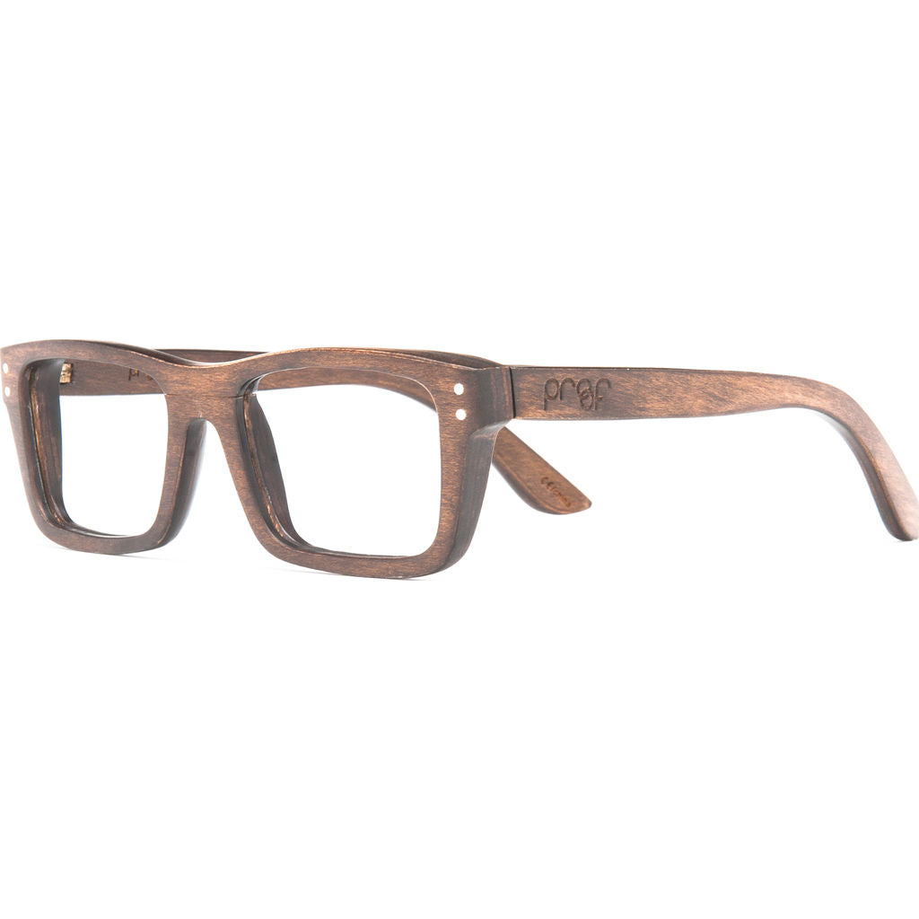 Proof Boise Optical Glasses | Stained Wood - Sportique