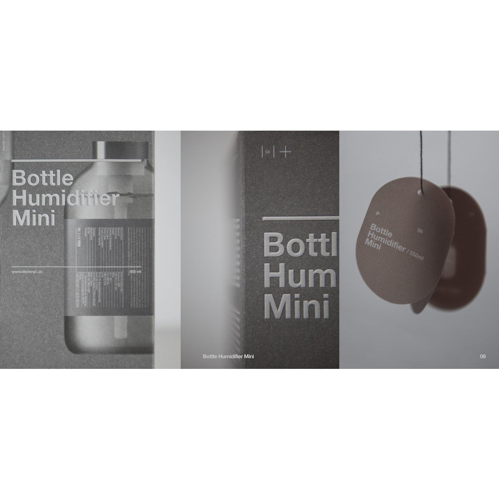Eleven Plus Bottle Humidifier Mini | Blue Grey