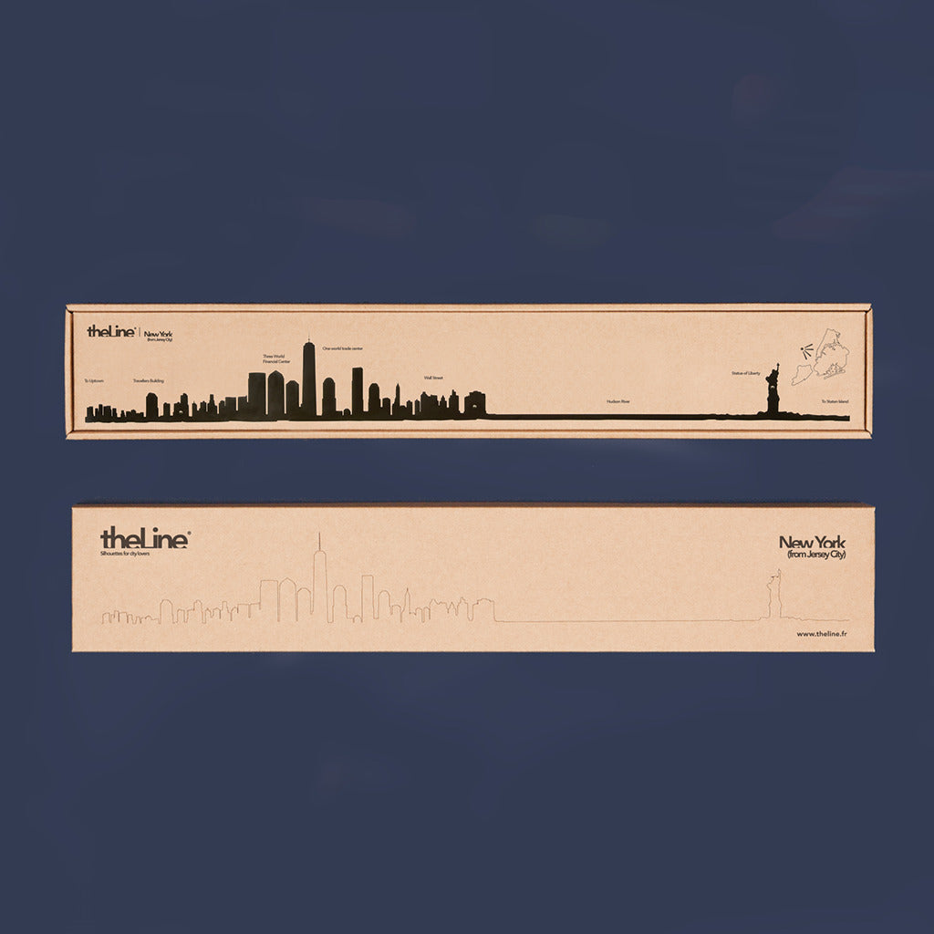 The Line City Skyline Wall Art Silhouette | X-Large