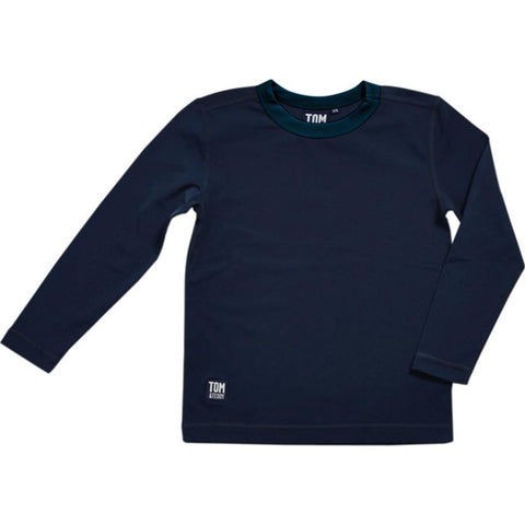 Tom & Teddy Boy's Long Sleeve Rash Guard | Deep Blue