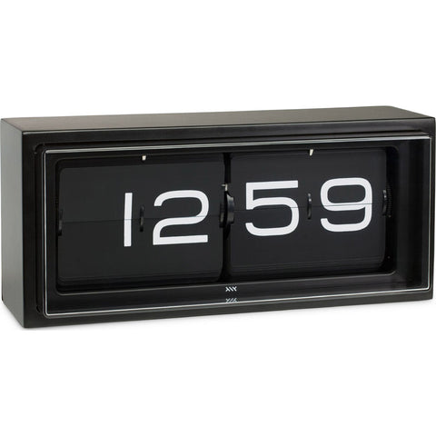 Leff Amsterdam Wall/Desk Clock Brick Black 24H Black Lt15401