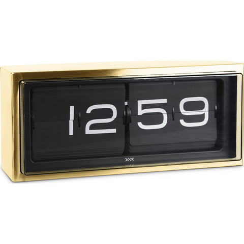 LEFF amsterdam 24h Brick Wall/Desk Clock | Brass/Black LT15501