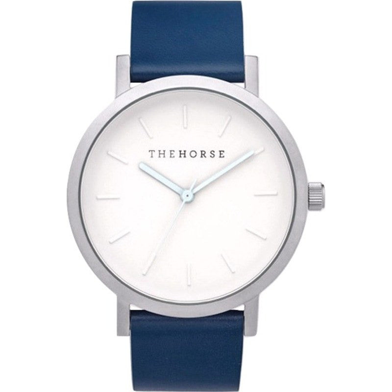 The Horse Original Silver Watch | Navy A19